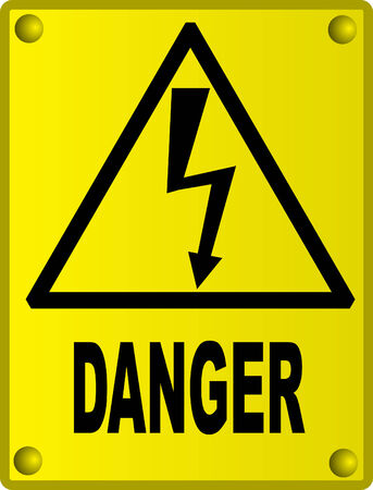 High voltage sign Stock Vector - 4598917