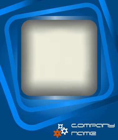 Blue abstract background, vector illustration Vector