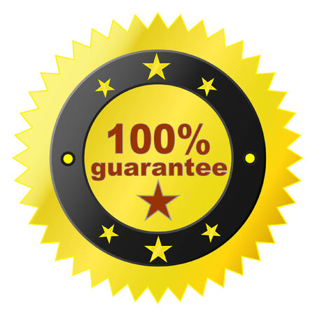 guaranty: Vector sticker with satisfaction guarantee