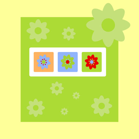 Spring greeting card with flowers Vector