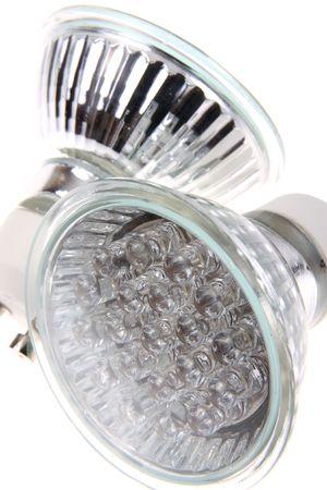 Led light (bulb)  isolated on white background photo