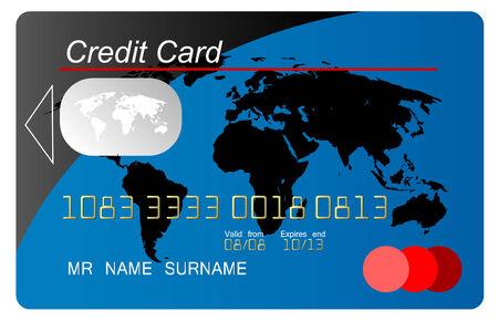 Blue vector  credit card Vector