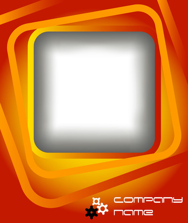 Abstract background with small gear wheels and square with copy space Vector