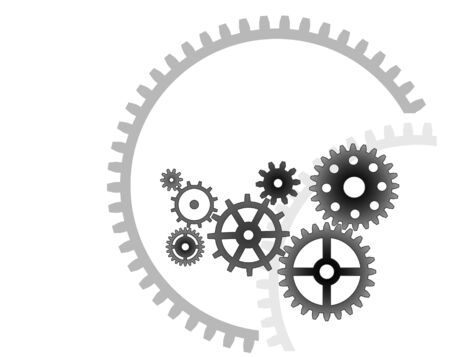 Various cogwheels, industrial background Vector