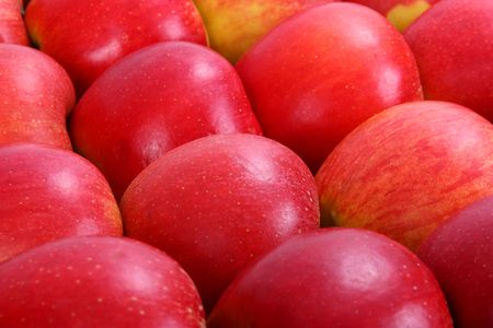 flavorful: Red apples, food background