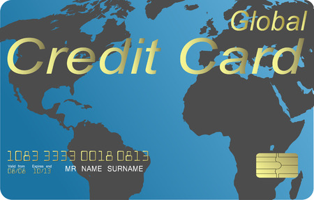 Global credit card vector Stock Vector - 4711374