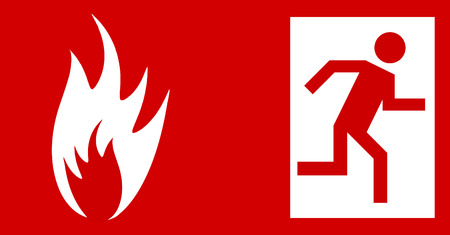 Emergency fire exit door Stock Vector - 4711369