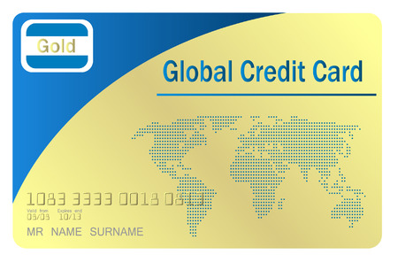 gold credit cartd  Vector