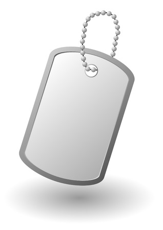 Vector identity tag or dog tag or identity plates Illustration