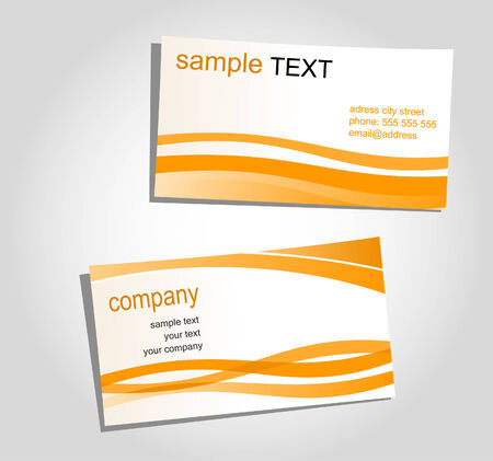 Templates for corporate style, business cards Vector