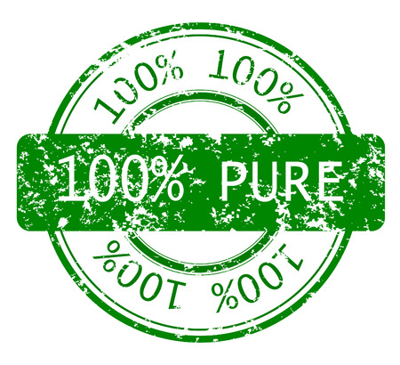 Rubber, grunge stamp with 100% PURE, ecology stamp Vector