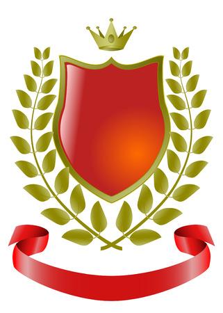 heraldic symbols, vector shield Stock Vector - 4821363