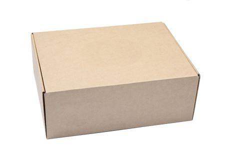corrugated box: cardboard box isolated on white background