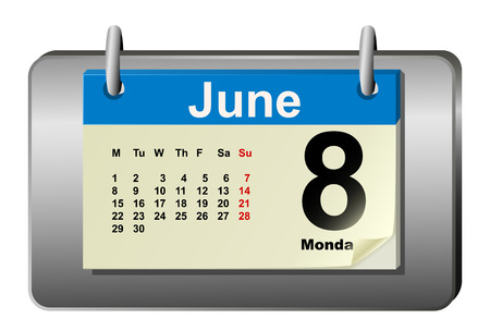 weekday: Vector illustration of calendar with bend page Illustration