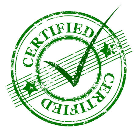 grunge stamp with the word certified and stars and lines