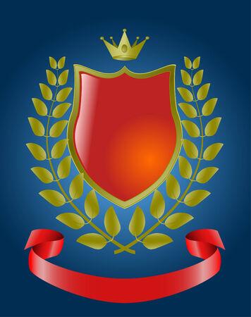 red heraldic symbols, vector shield  Vector