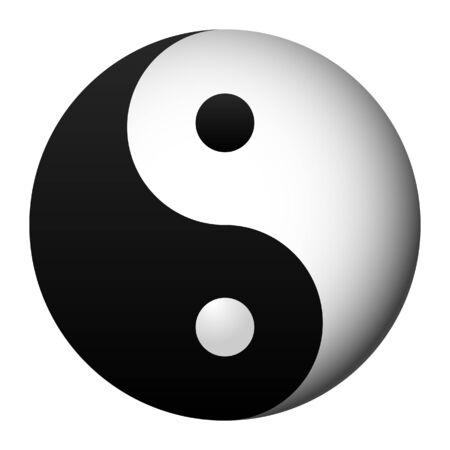 metaphysic: yin and yang, taoist symbol of harmony Illustration
