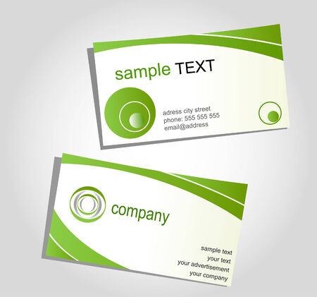 graphic display cards: Business cards, templates for corporate style