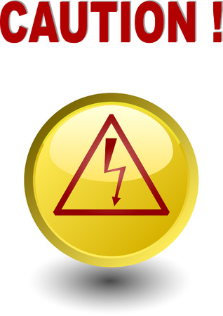 Sign  - Caution - high voltage Vector