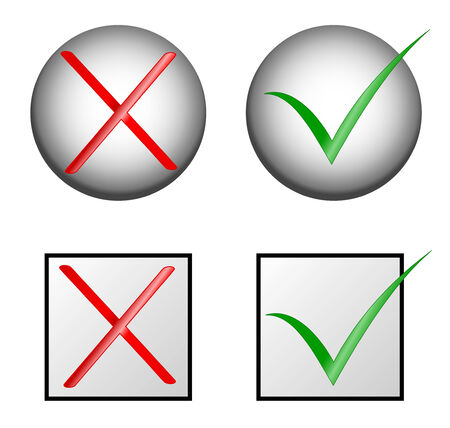 vector check marks :yes and no Vector