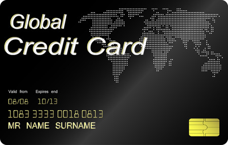 Black credit card vector, highly detailed Vector