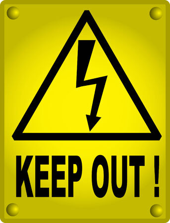 High voltage sign, keep out Vector