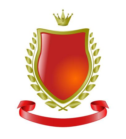 heraldic symbols, vector shield Vector