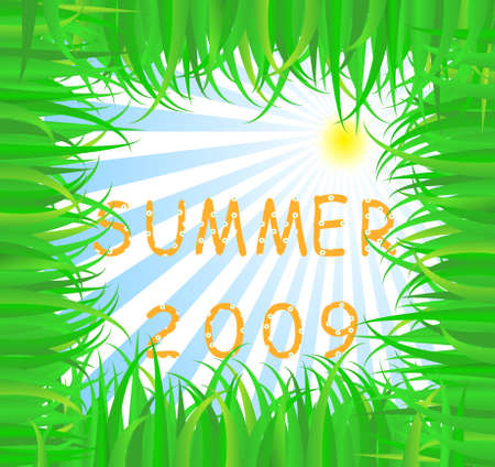 Time to holidays-text summer made from flower Vector