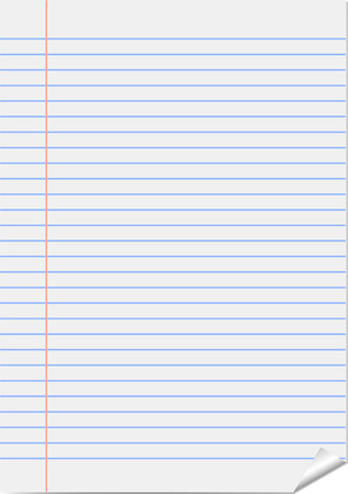 lined:  Vector page from notepad (notebook paper) Illustration
