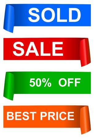 sticker vector: Color sale sticker,  vector Illustration