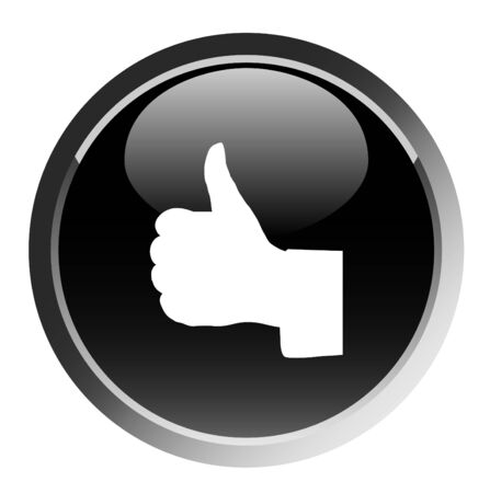 illustration of thumb up sign round button Stock Vector - 5162314