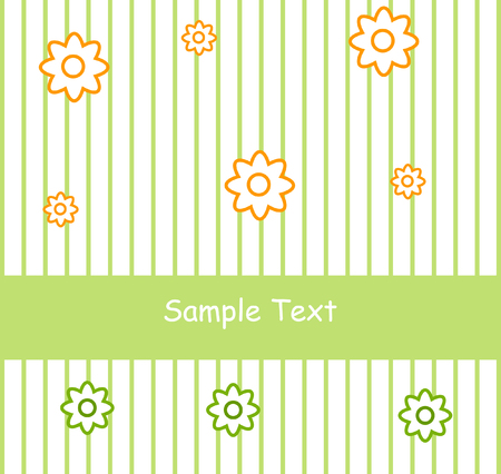 Flower greeting card with your text Vector