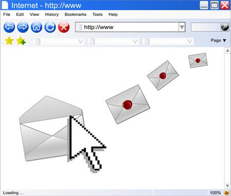 concept of e-mail , vector Stock Vector - 5207725