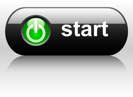 Vector button for web design.   Vector