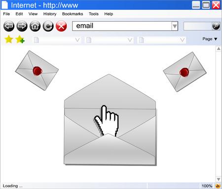 concept of e-mail , vector Stock Vector - 5270663