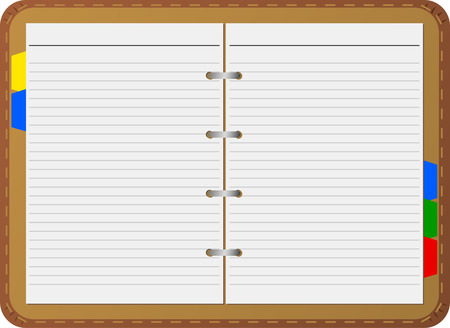 ruled paper: Open notepad, vector, detailed Illustration