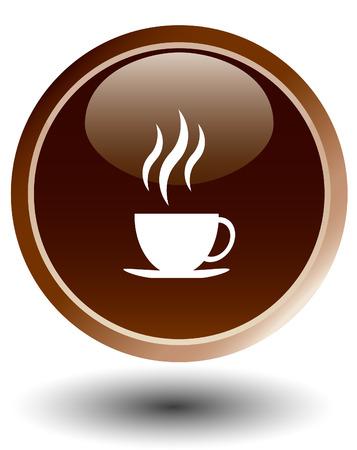 coffee button , vector Vector
