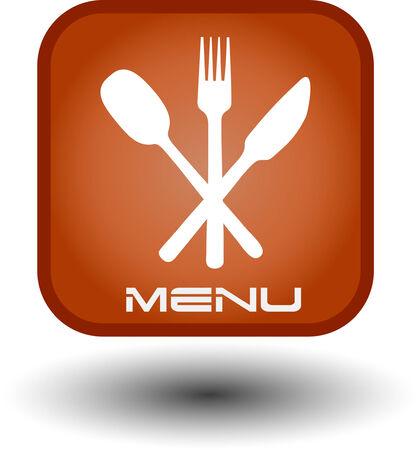 Food button, web icon.   Vector