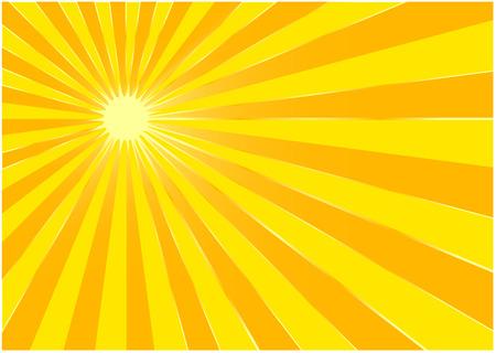 The yellow summer sun - background Ilustrace