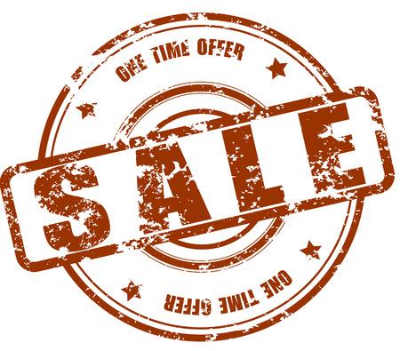 Sale stamp, grunge vector
