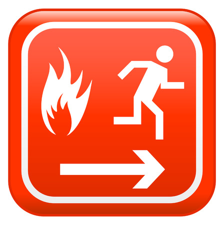 depart:  Emergency fire safety sign Illustration