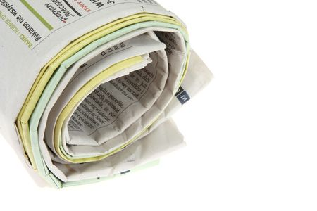 Roll of newspapers, isolated on white background Stock Photo - 5503944