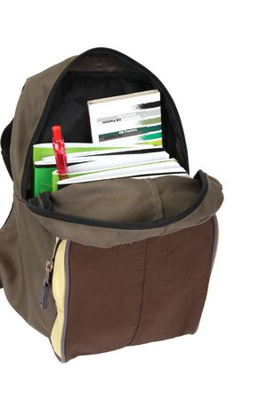 book bags:  school backpack Stock Photo