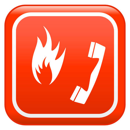 Emergency fire safety sign Vector