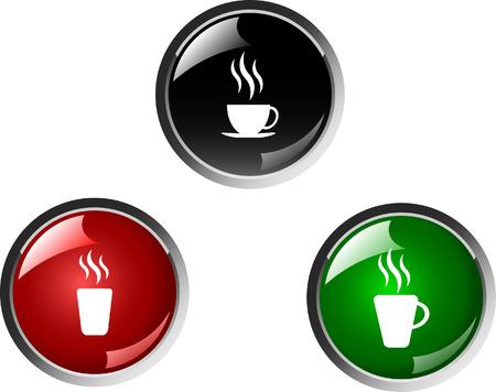 sip: bot�n de color caf�, vector de