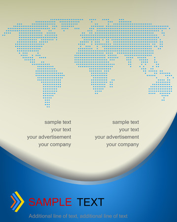 Vector background with dotted map of the world Vector