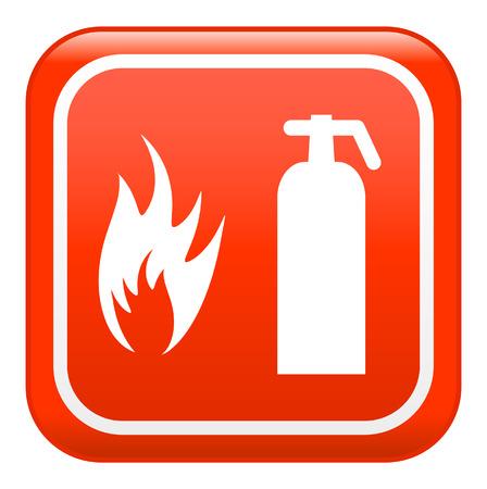 smoke alarm: Fire sign , vector