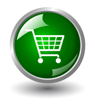 ecommerce icons: Shopping basket button. Internet Shopping Illustration