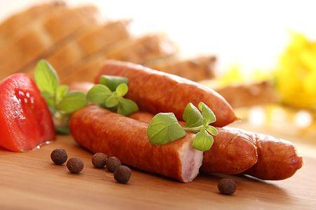 고기의: Tasty sausages - short focus    스톡 사진