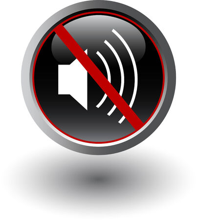 Symbol of silent mode, mute, vector web icon Vector